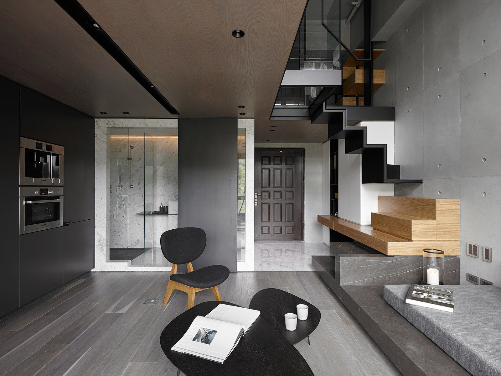 LOFT风格公寓客厅装修效果图