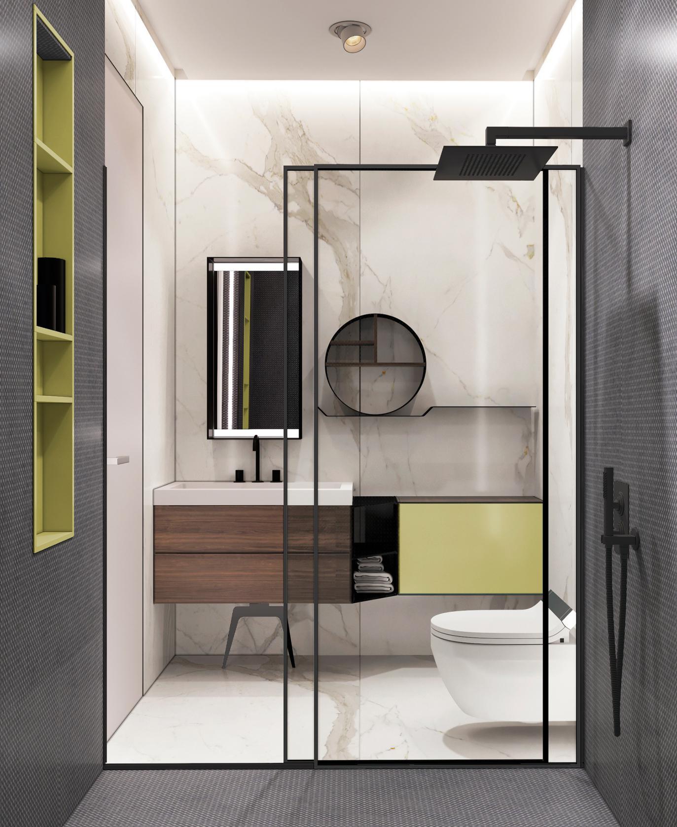 时尚轻奢公寓卫生间装修效果图