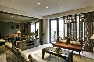 东南亚风格三居装修设计图