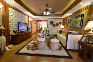 东南亚风格三居客厅每日首存送20