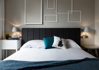 80㎡北欧工业风卧室装修效果图