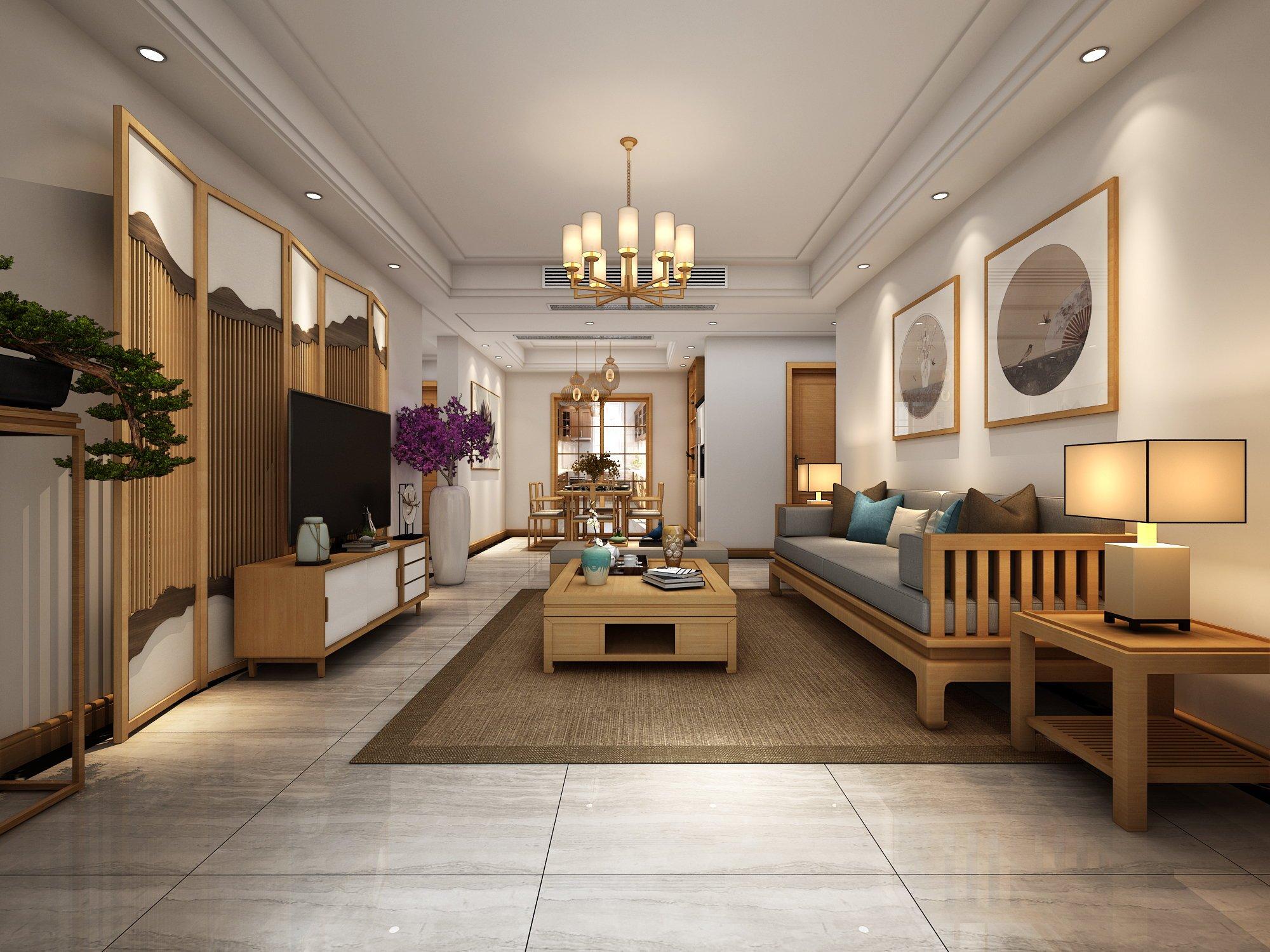 日式风格客厅装修设计效果图