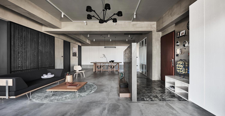 165㎡工业风格客厅装修效果图