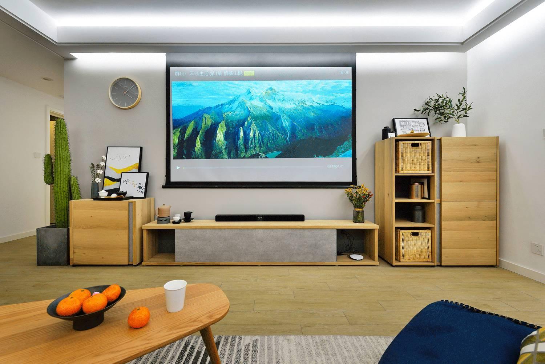 130平简约风电视背景墙装修效果图