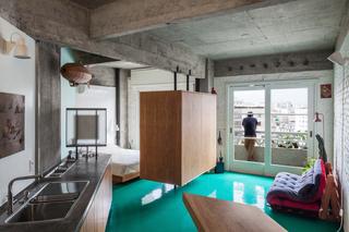 40平米水泥公寓装修效果图