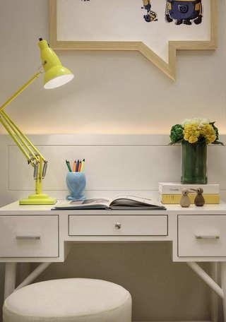 135平后现代风格装修书桌设计图