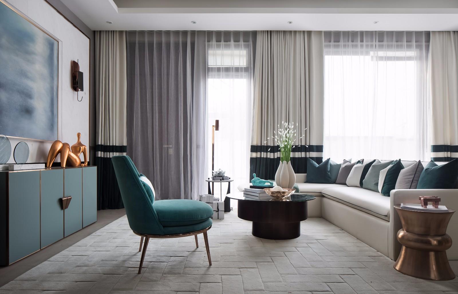 时尚现代别墅样板房装修效果图