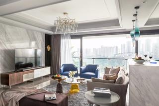 156㎡时尚现代轻奢客厅装修效果图