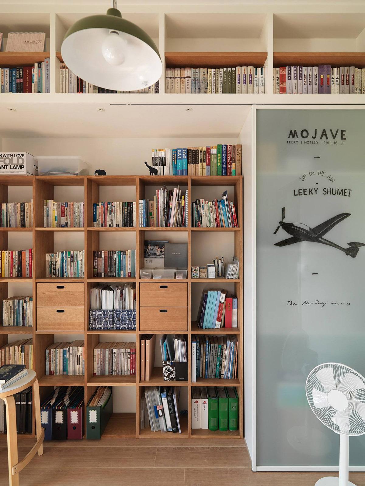 日式极简风二居书架装修效果图