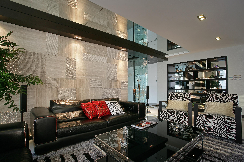 现代简约四房沙发背景墙装修效果图