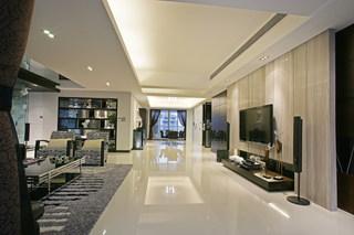 现代简约四房客厅过道装修效果图