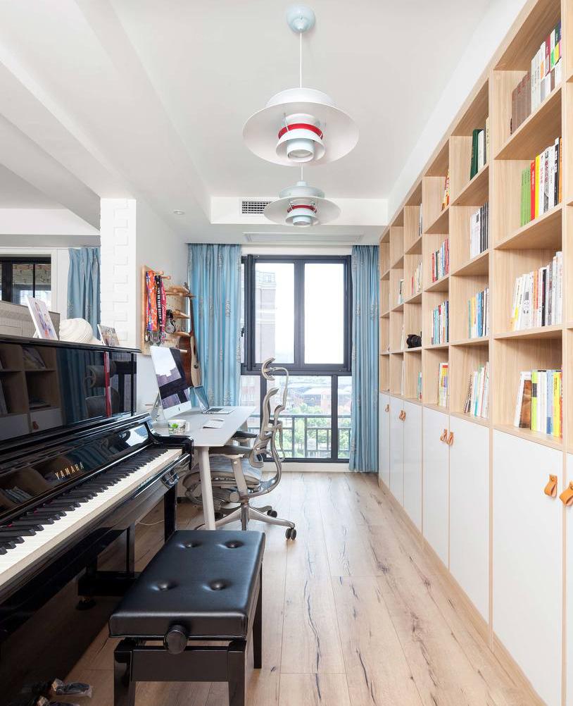 130㎡北欧风格书房装修效果图