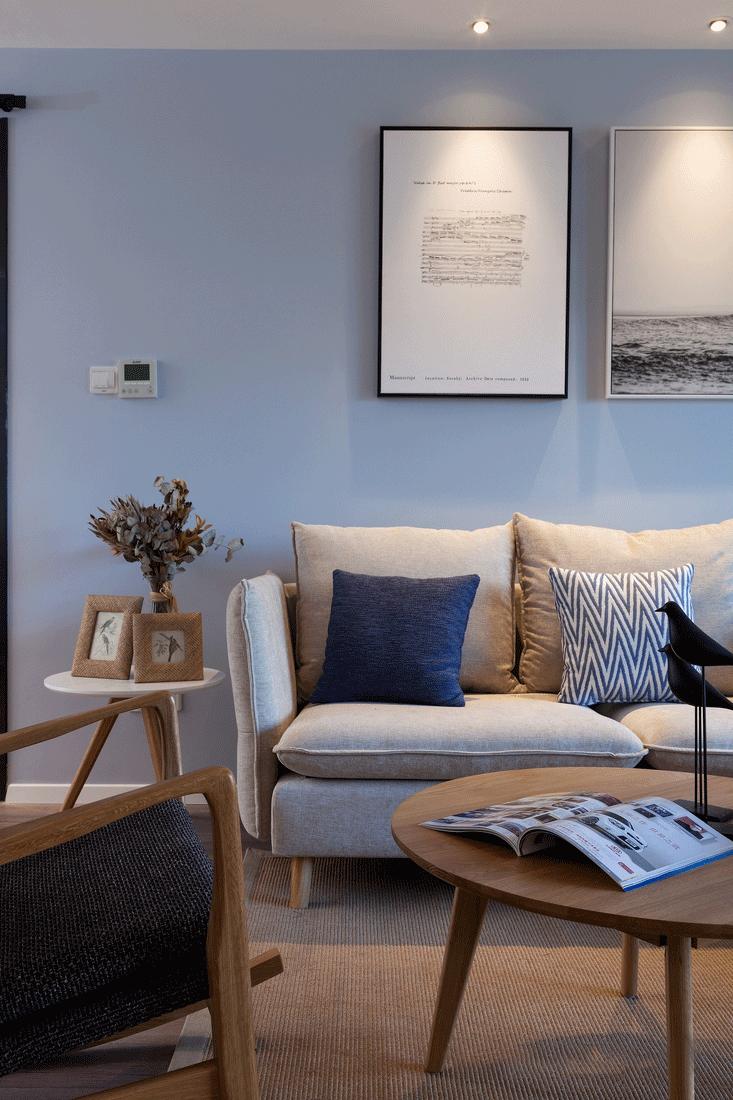 100平米北欧风沙发背景墙装修效果图