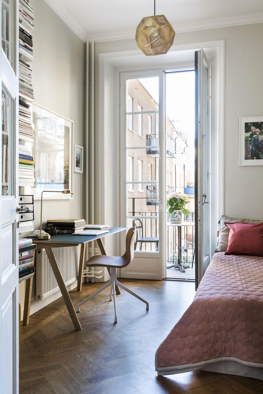 92㎡北欧风公寓书房装修效果图
