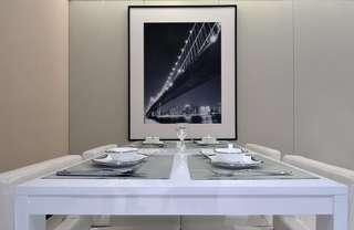简约现代样板房餐厅装修效果图