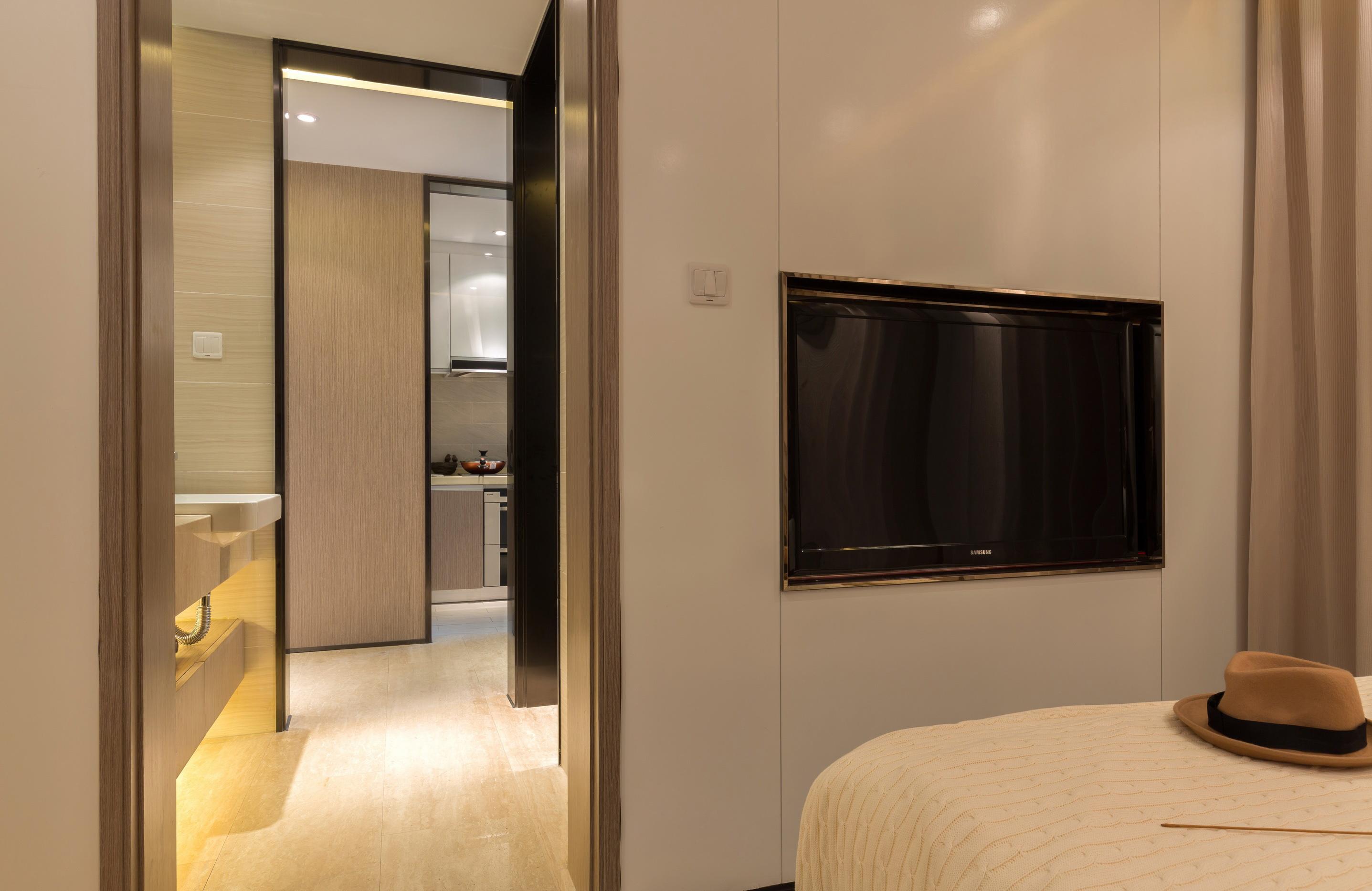 时尚现代简约风卧室电视墙装修效果图