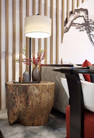 大户型新中式风格装修沙发一隅