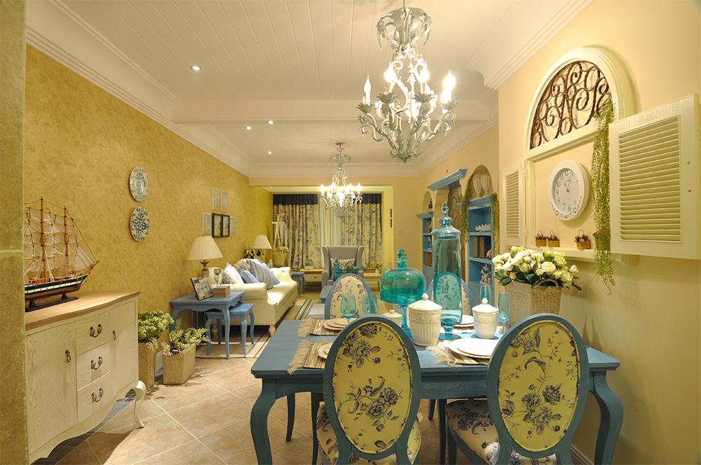地中海风格二居室装修效果图