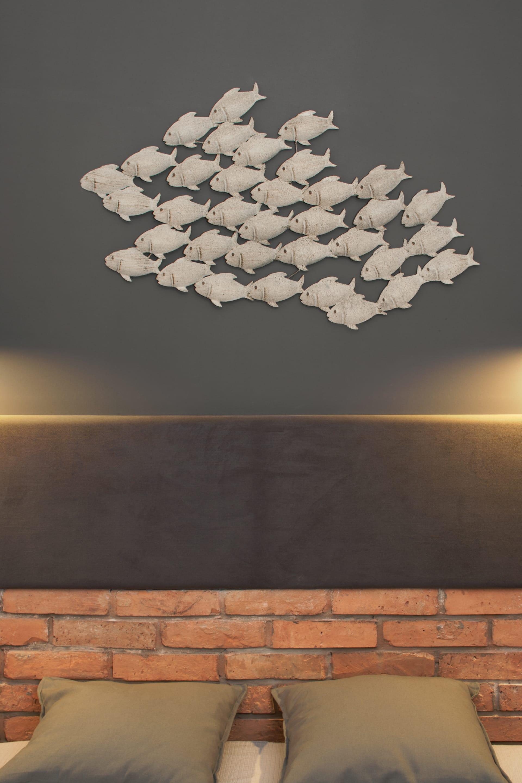 阁楼式工业风公寓床头背景墙装修效果图