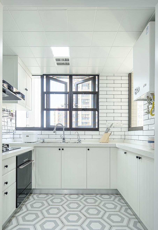 清新北欧三居室厨房装修效果图
