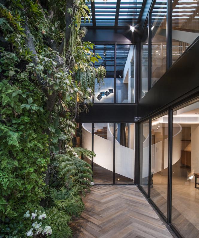 现代风格别墅绿植墙装修效果图