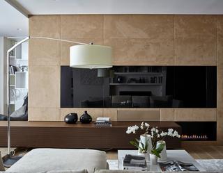 70平现代风公寓电视背景墙装修效果图
