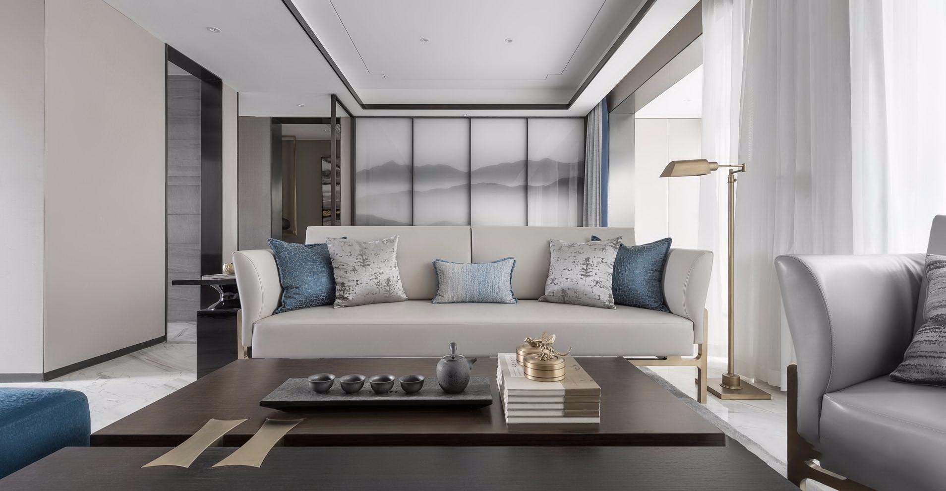 新中式风格别墅装修沙发设计图