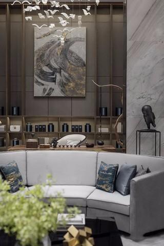 新中式风格别墅茶室装修效果图