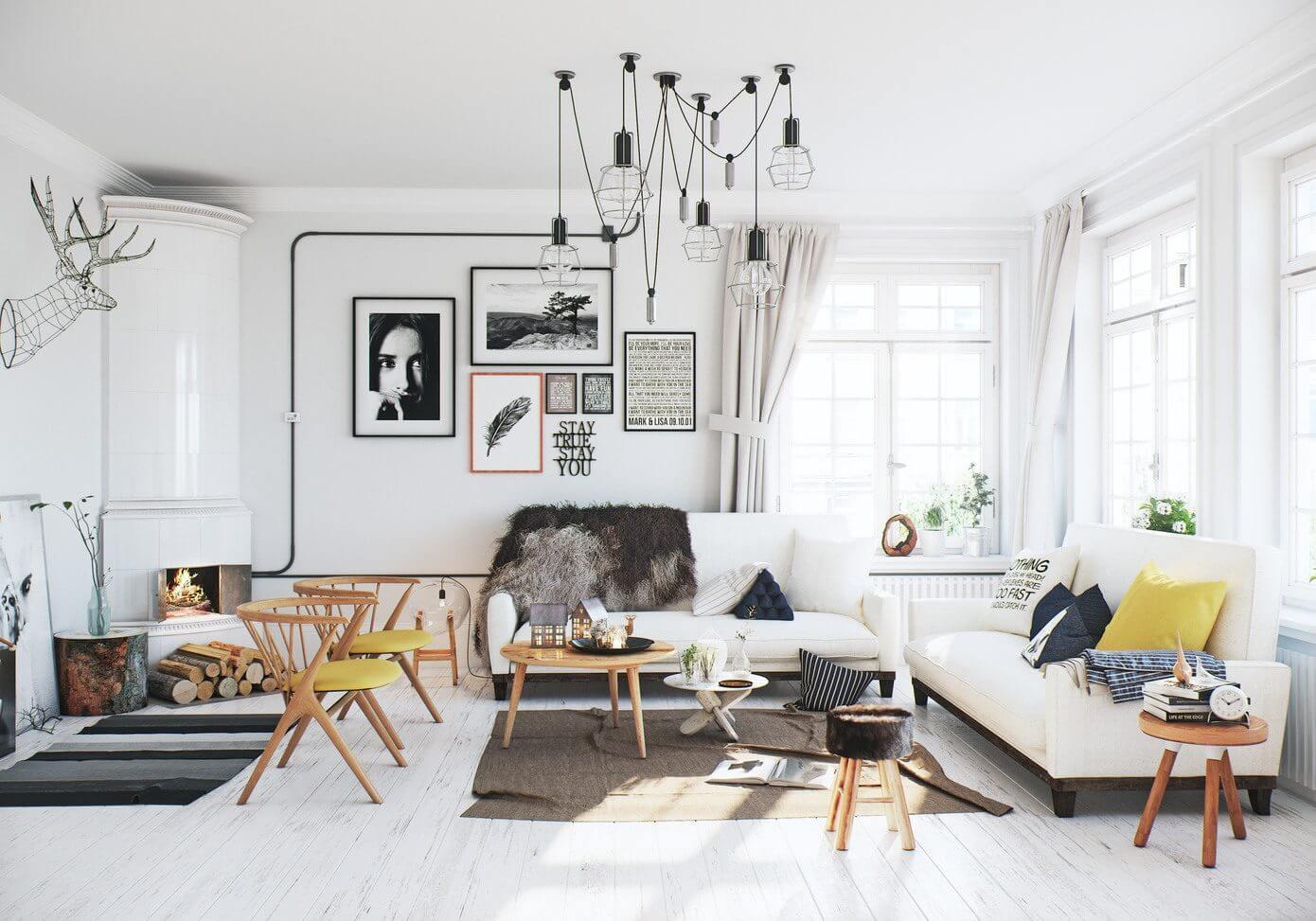 白色北欧风公寓装修效果图