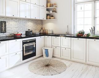 白色北欧风公寓厨房装修效果图