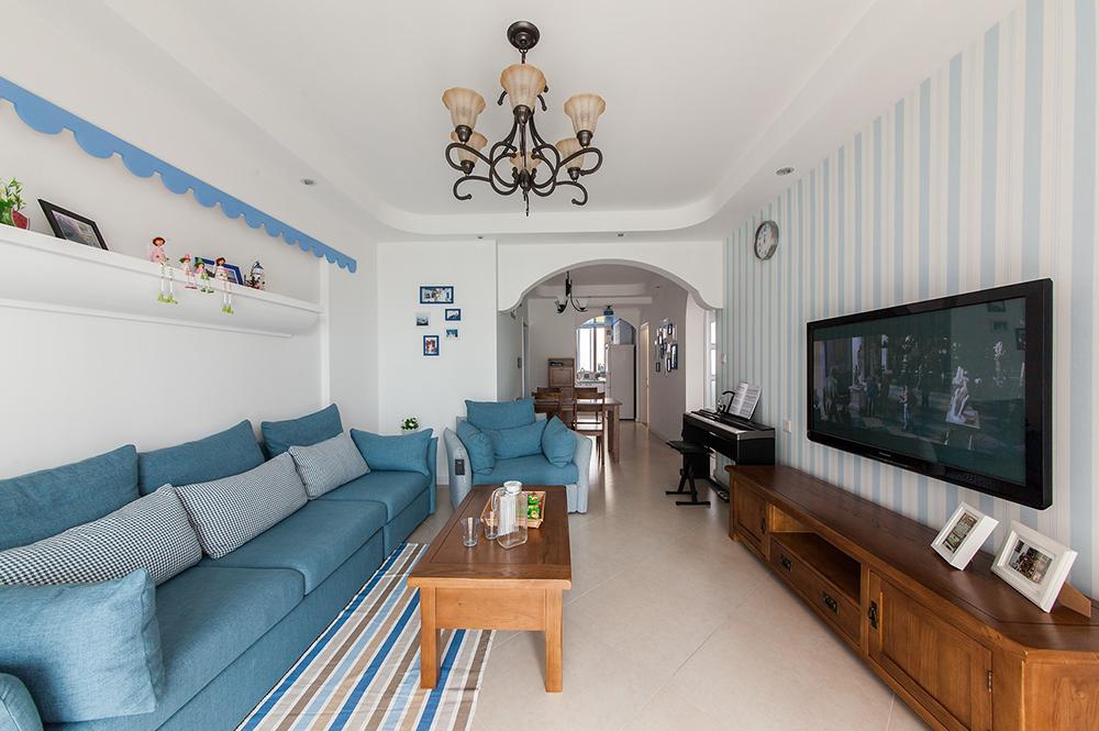 地中海风格二居客厅每日首存送20
