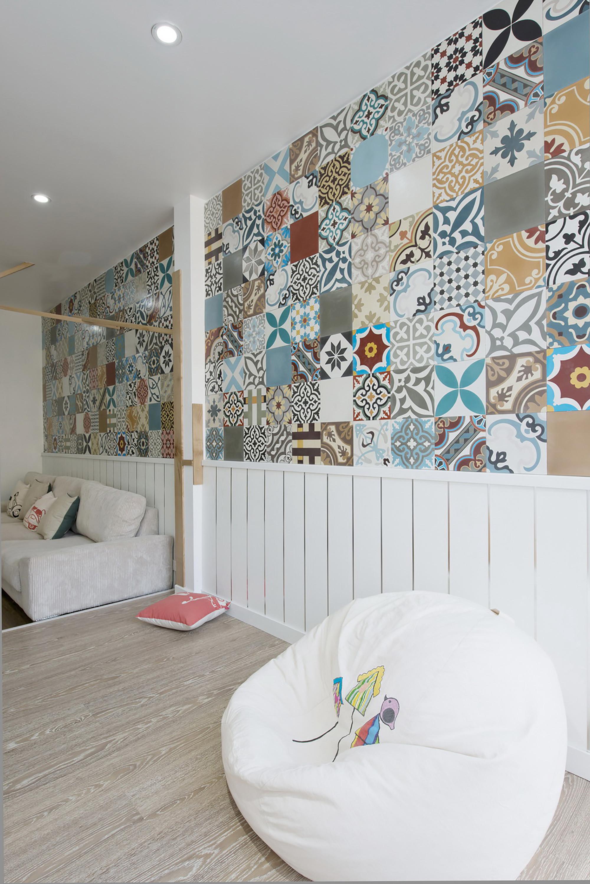 简约风格公寓花砖墙装修效果图