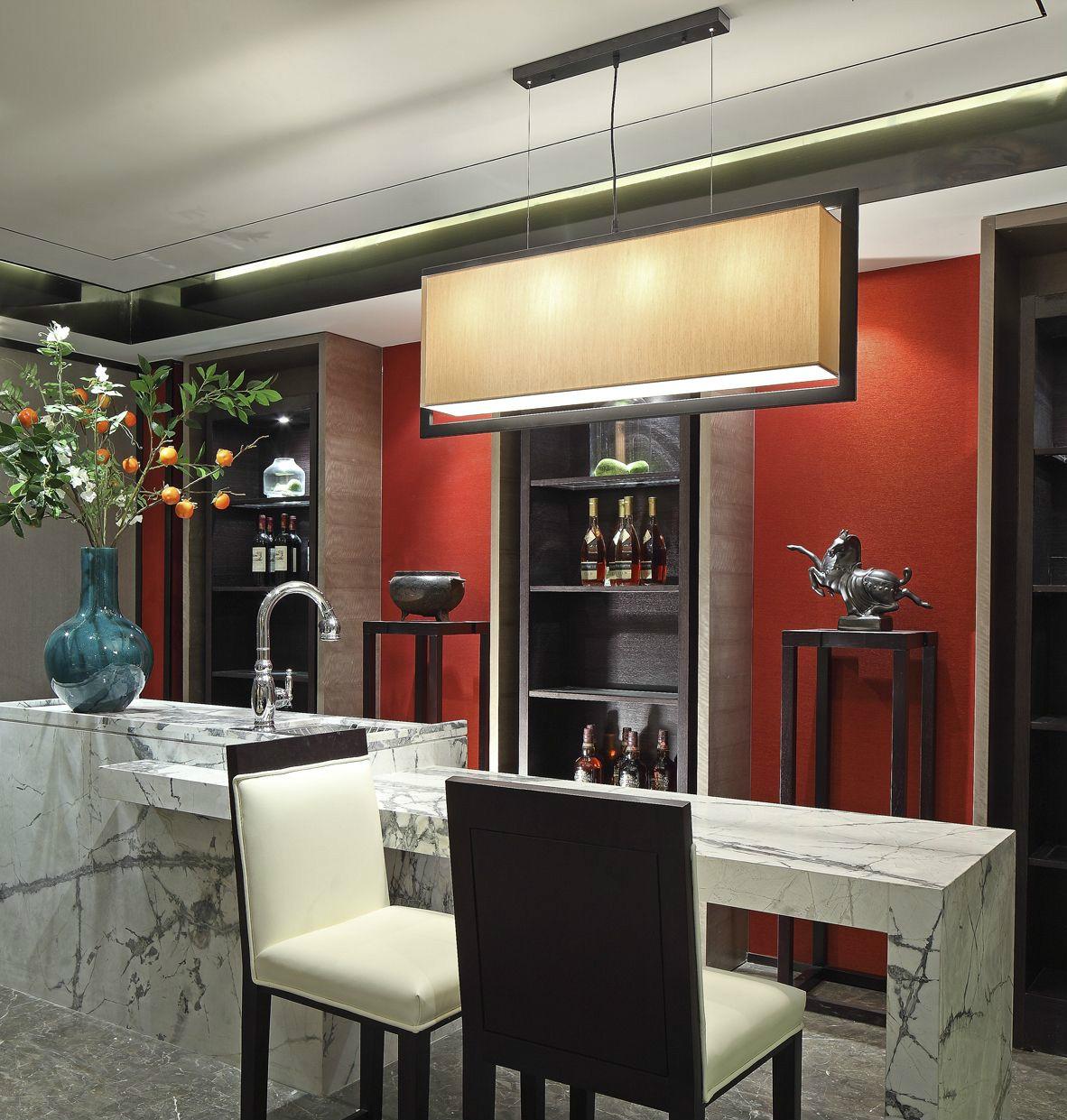 新中式别墅吧台装修设计图
