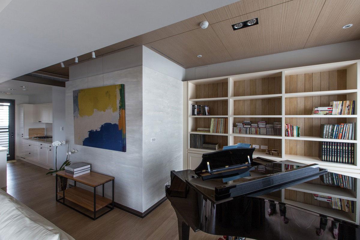 160平现代风格书柜装修效果图