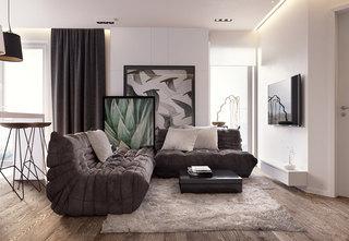 66平现代简约公寓装修效果图