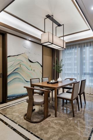 新中式风格四房餐厅装修效果图