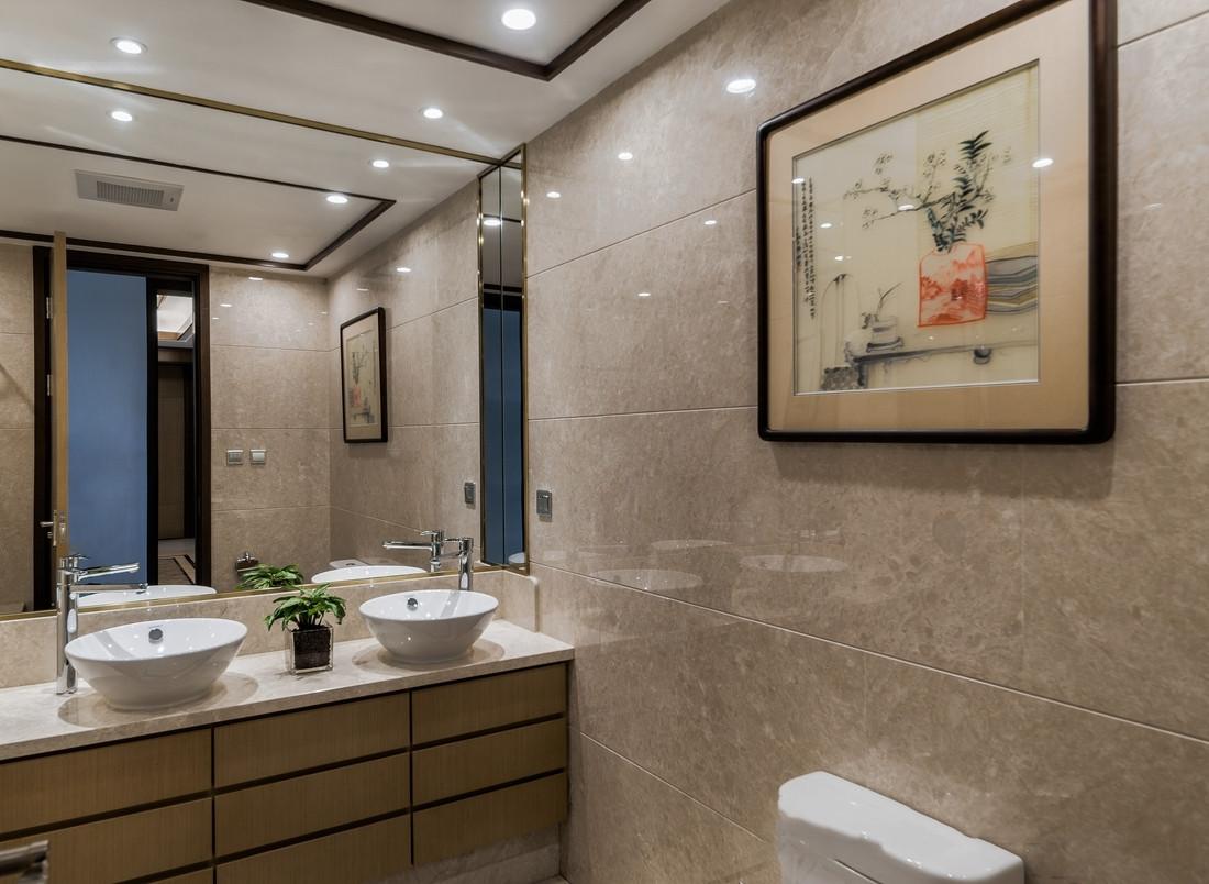 新中式风格四房卫生间装修效果图