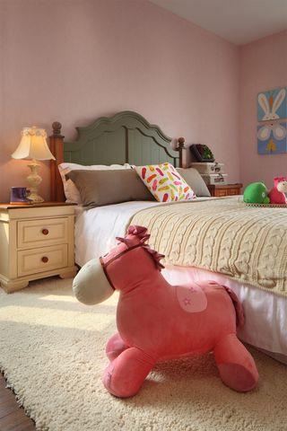 美式田园风格三居儿童房装修效果图