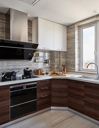 135平米现代中式厨房装修效果图