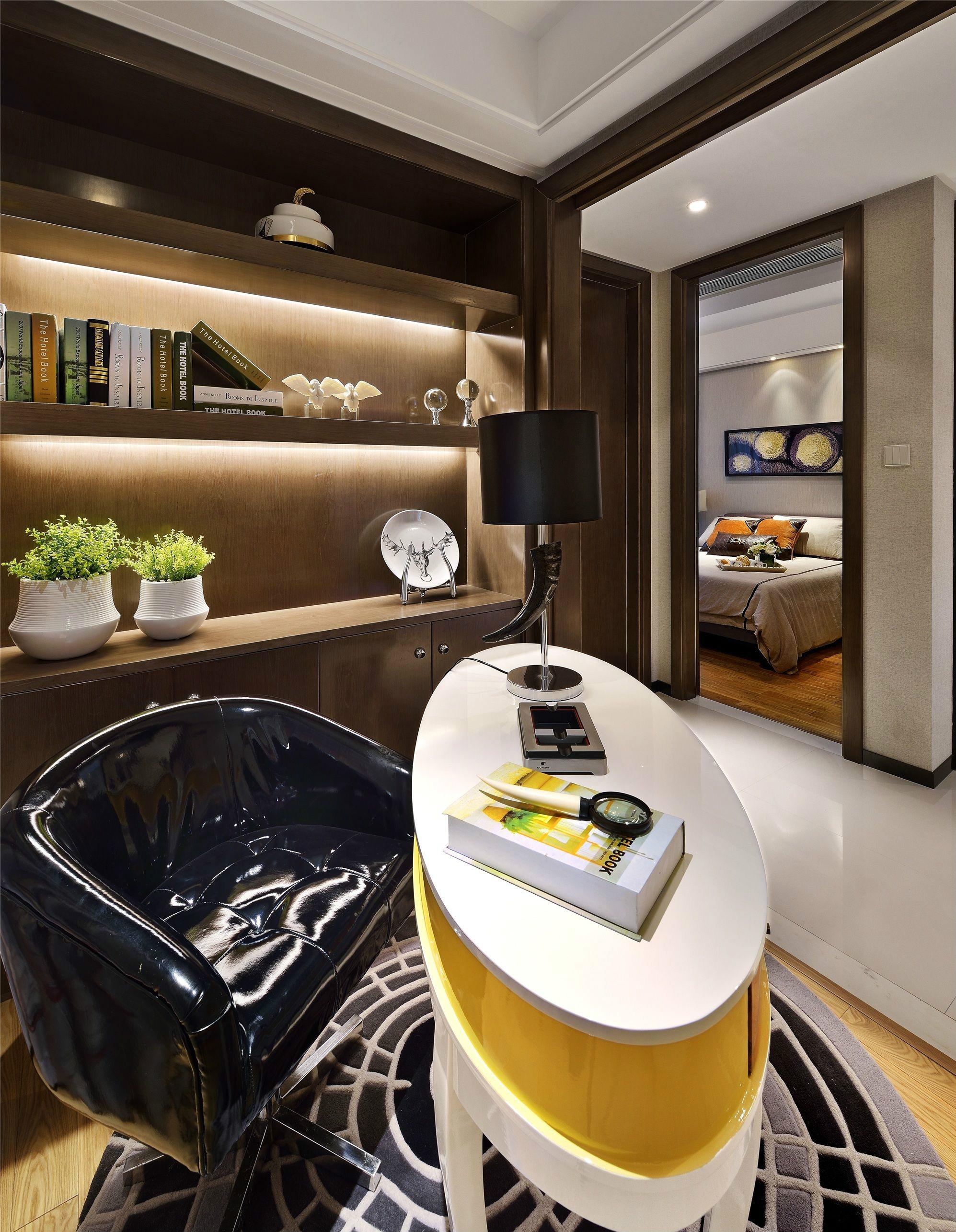 后现代风格三居室书房装修效果图