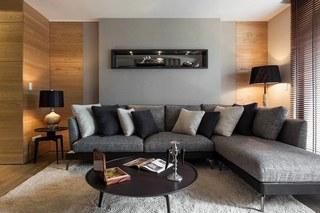110平米现代风格沙发背景墙装修效果图