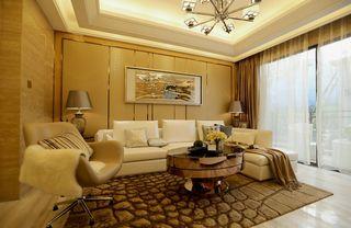 二居室现代简约沙发背景墙装修效果图