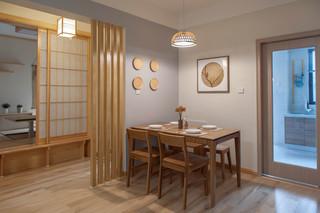 80㎡日式风格三居装修效果图