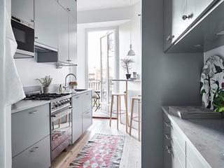 北欧风小户型公寓厨房装修效果图