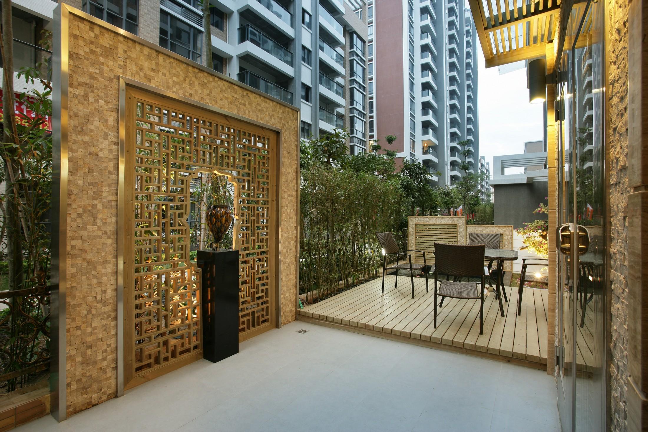 三居室中式风格庭院装修效果图