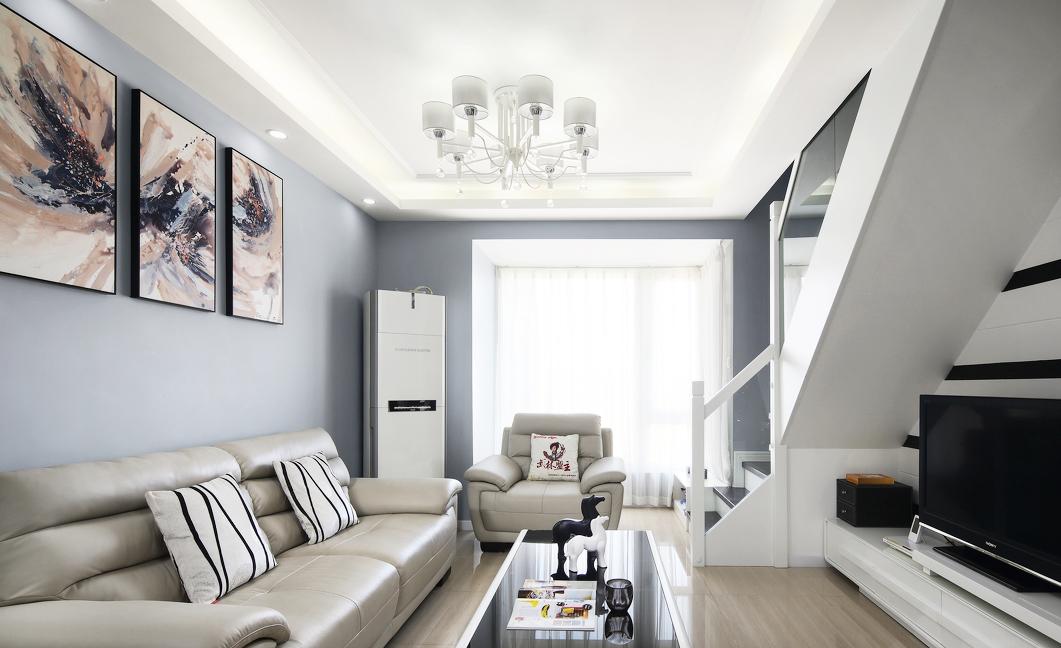 100㎡现代风格客厅装修效果图