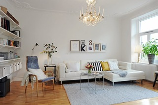 白色简约北欧风公寓装修效果图