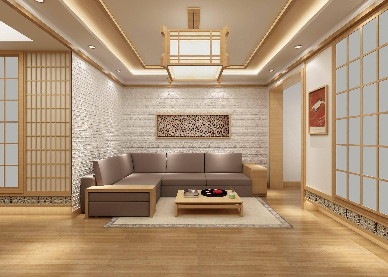 75平米日式风格客厅装修效果图