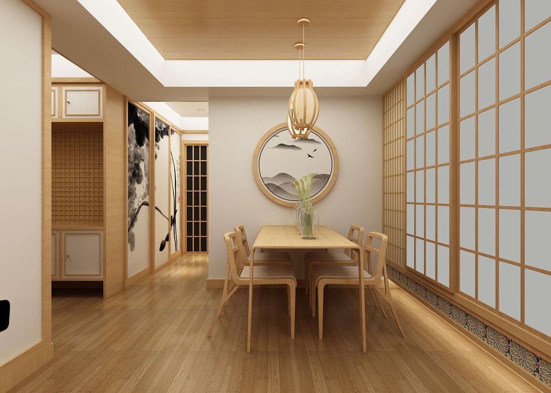 75平米日式风格餐厅装修效果图