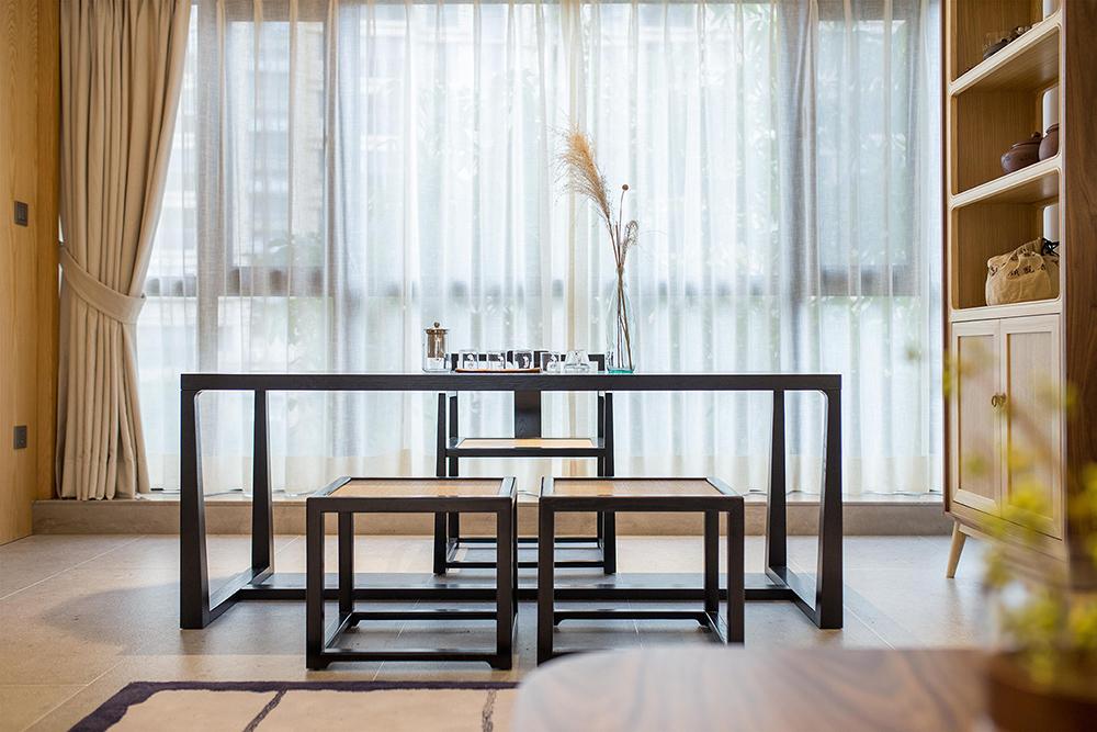 简约中式风格三居茶桌装修效果图